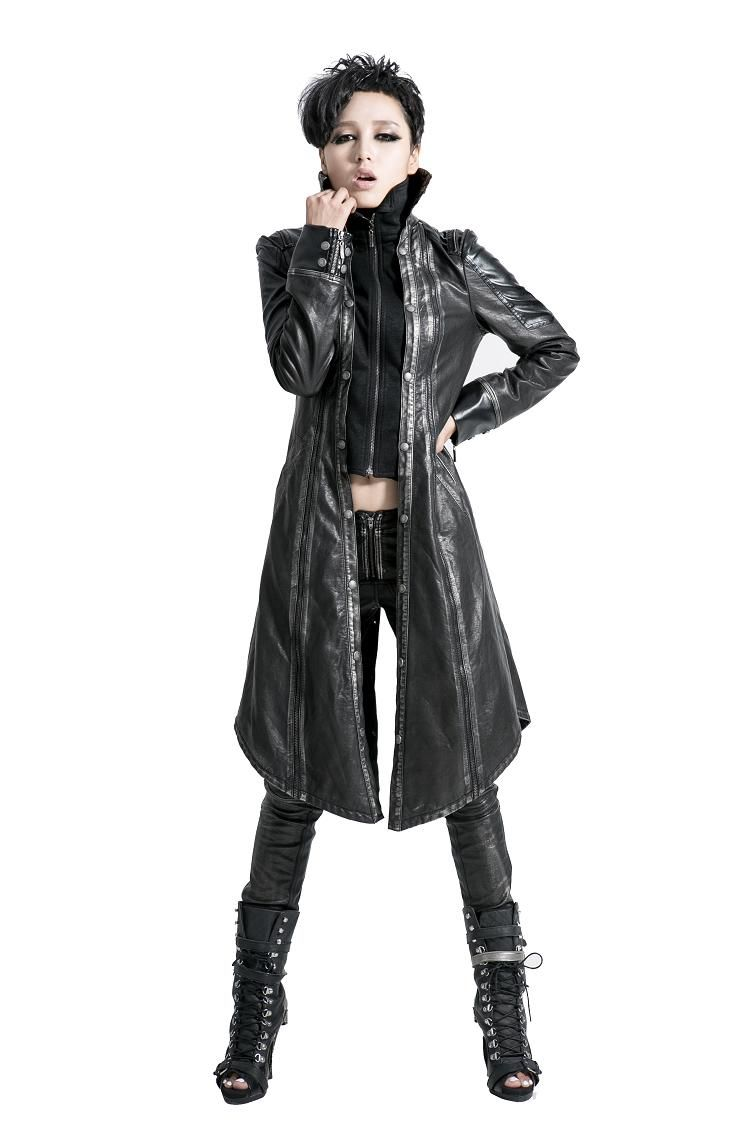 e92871da3 Y-422 Modern Wholesale Gothic Long Leather Duster Coat for Men and ...