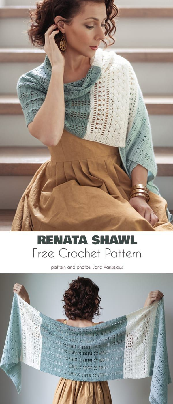 Rectangle Shawl Free Crochet Patterns