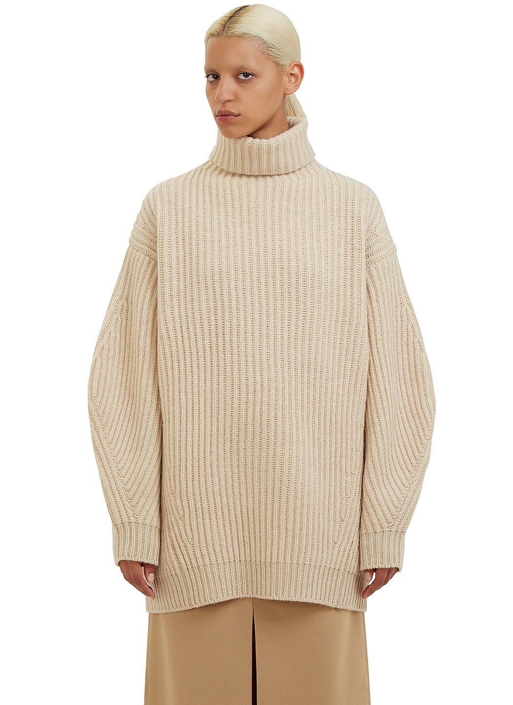ACNE STUDIOS Women'S Isa Oversized Roll Neck Chunky Knit Sweater ...