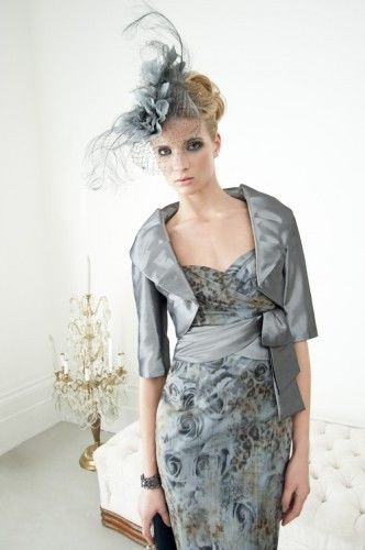 b6b58ffb0d5 CONDICI ISPIRATO SMOKY BLUE MOTHER OF BRIDE DRESS AND JACKET- SIZE .10 -  BNWT