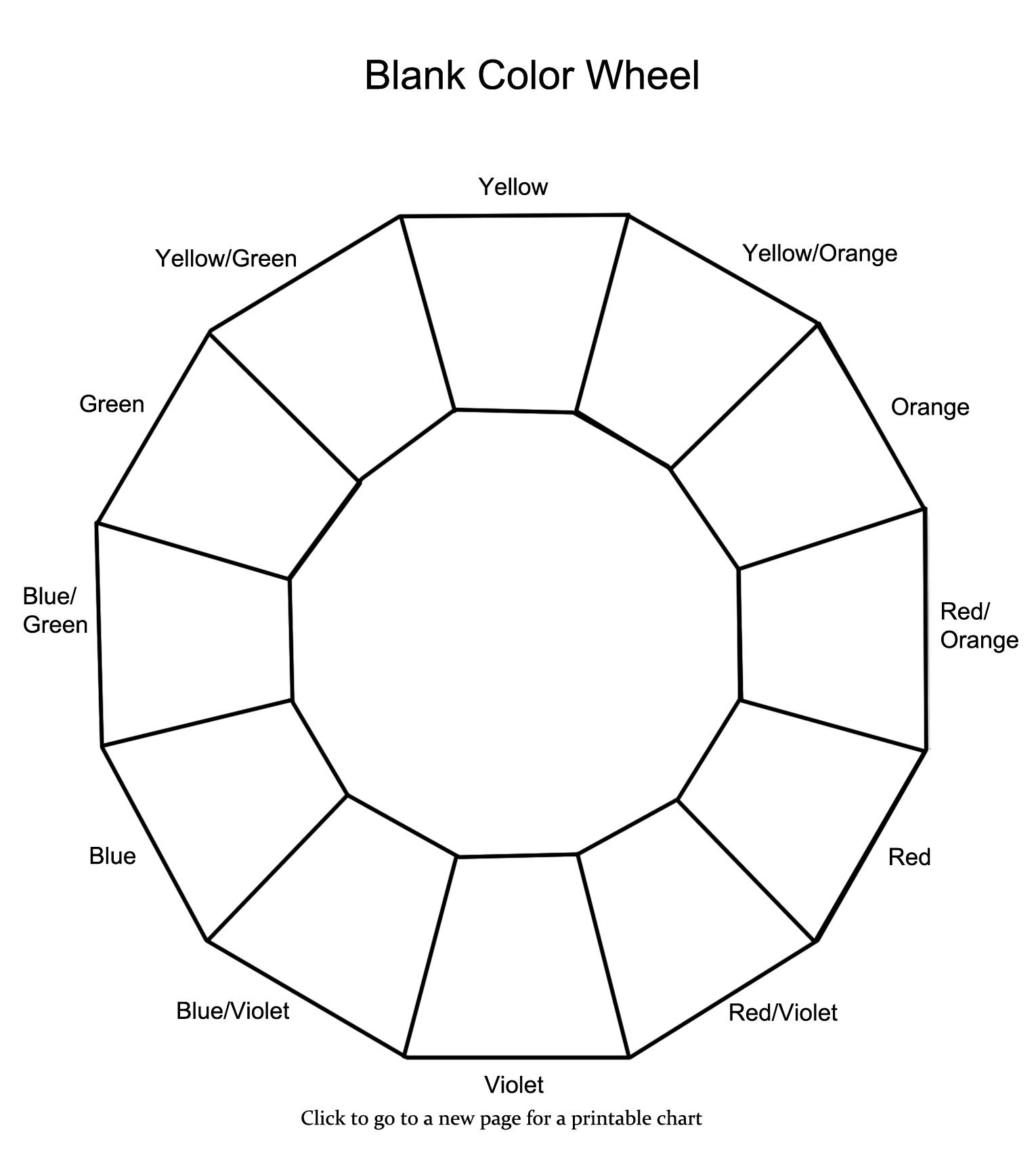 12 Section Colour Wheel