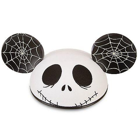 Disney Park Nightmare Before Christmas Jack Skellington Mickey Mouse Ear Hat Cap