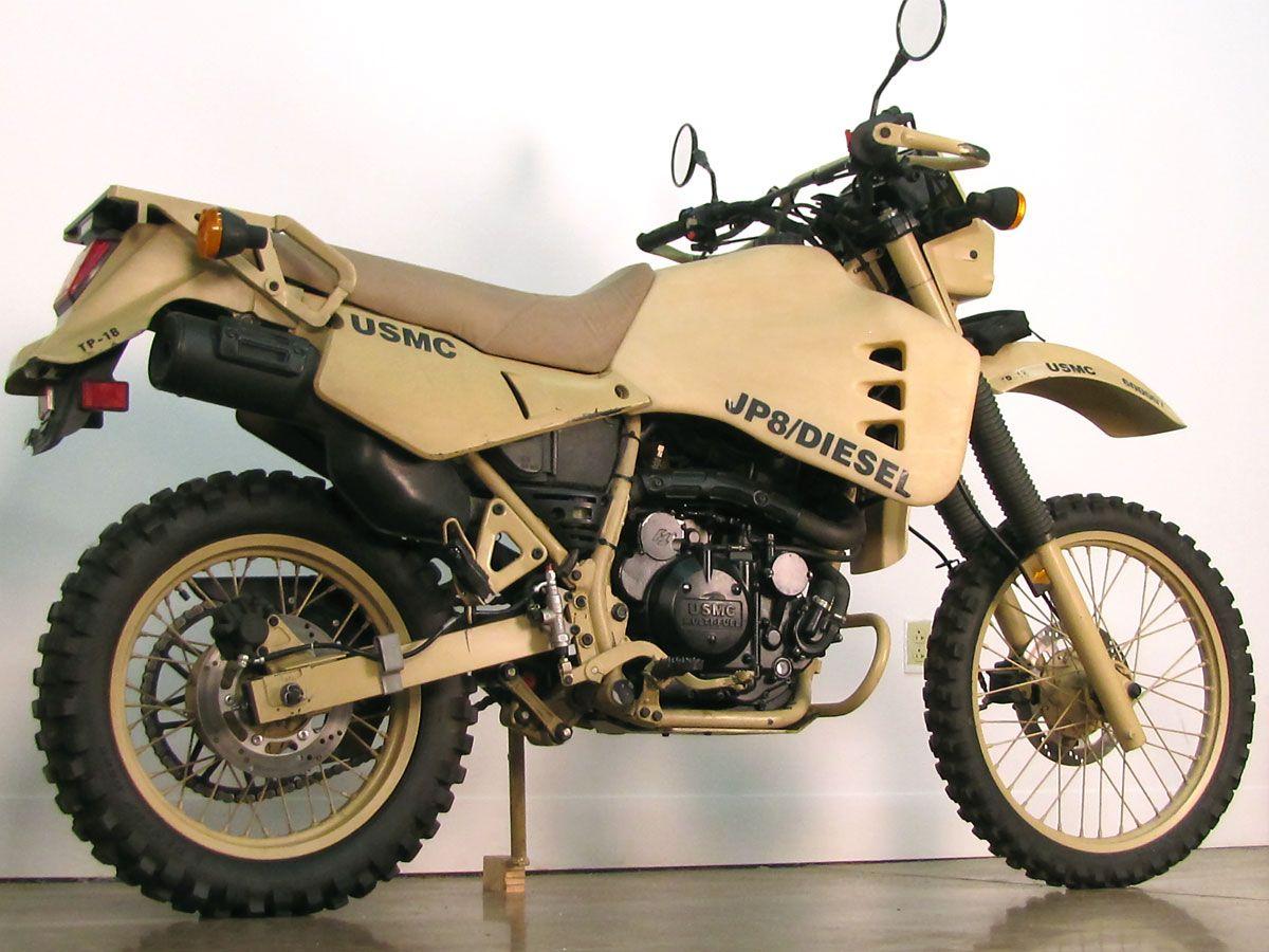 Converted Military Diesel Kawasaki Klr 650 Pinteres