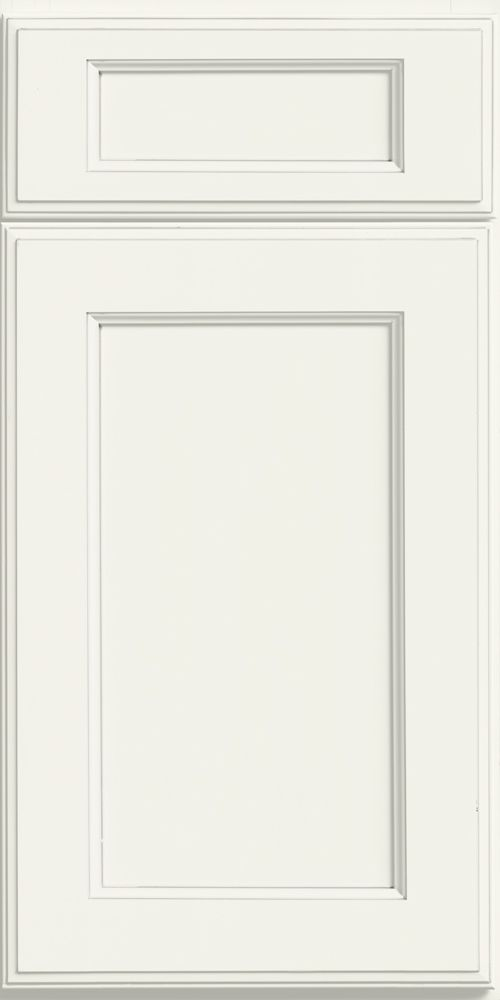 merillat classic ralston cabinet door with five piece drawer front in white cotton paint - Merillat Classic Kitchen Cabinets