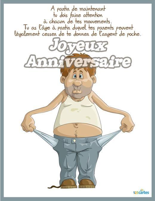 Message Anniversaire 18 Ans : message, anniversaire, Carte, Anniversaire, Cartes, Texte, Humoristique,, Humour