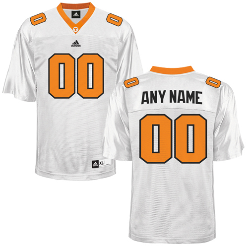 big sale 606dd c35a4 adidas Tennessee Volunteers Custom Football Jersey White ...