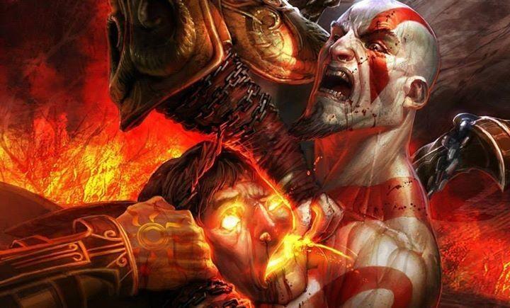 Kratos Vs Helios Kratos God Of War God Of War Concept Art World