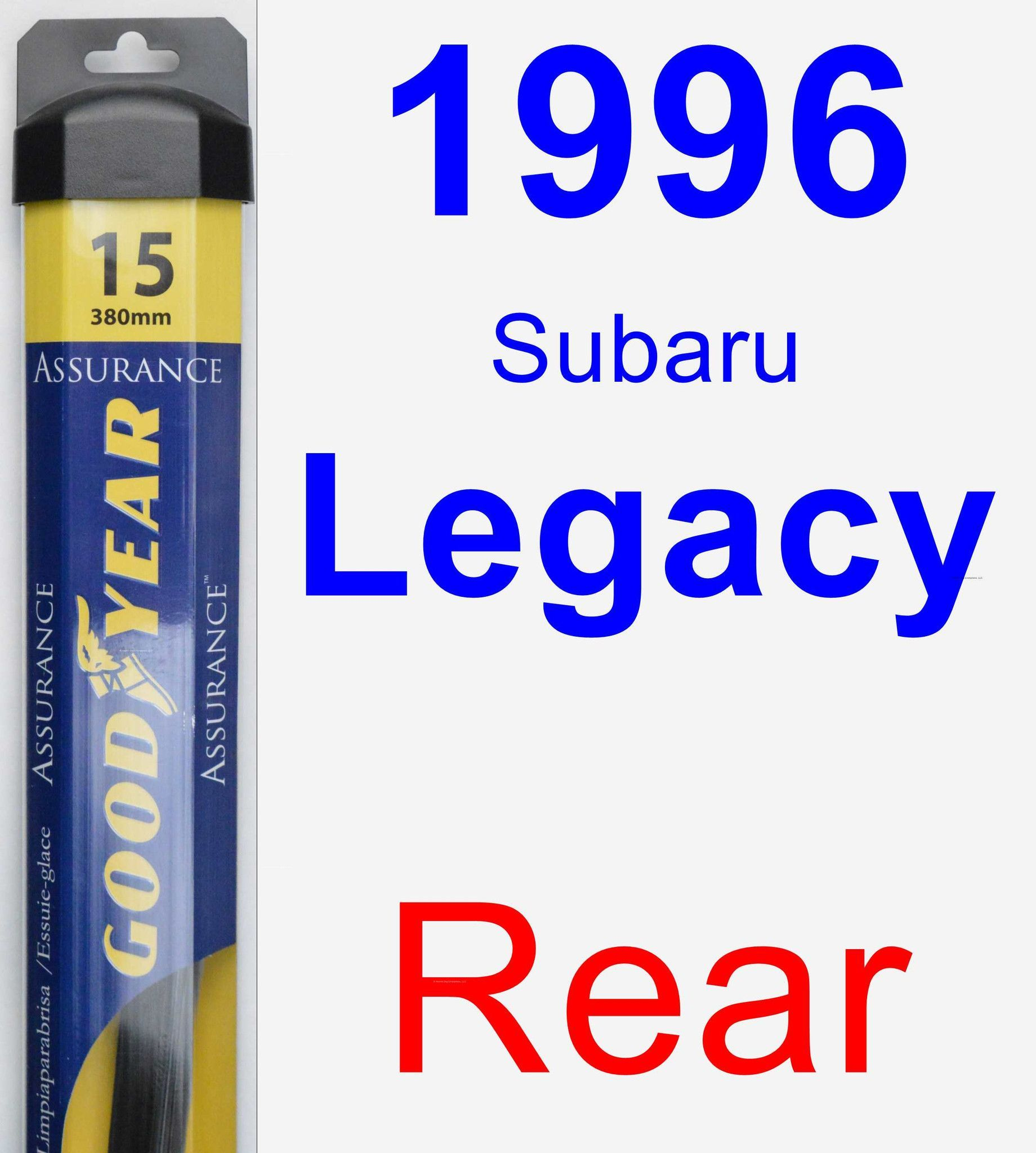 Rear Wiper Blade for 1996 Subaru Legacy - Assurance