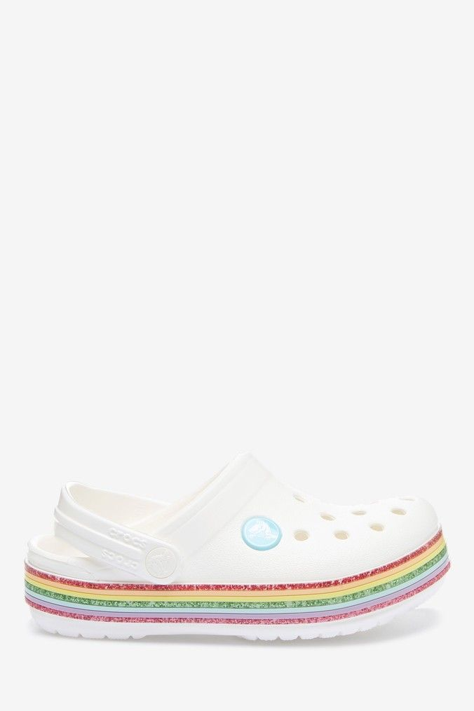 Crocs Crocband Rainbow Glitter Clogs