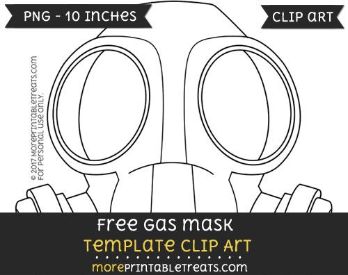 Free Gas Mask Template - Clipart | Clipart Files | Pinterest | Mask ...