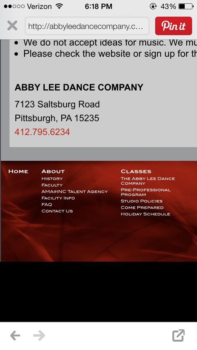Abby Lee Dance Company Phone Number and Address! Contact them at any