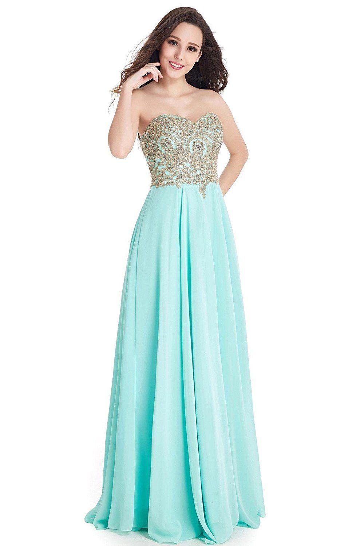 Babyonlinedress sweetheart golden lace A-line chiffon burgundy Prom ...
