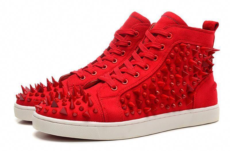 official photos 8134f 957e4 Christian Louboutin Louis Pik Pik High Sneakers Red ...