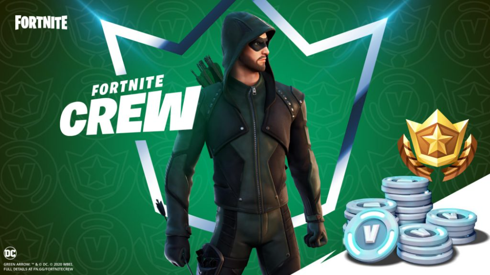 Dc Comics Green Arrow Is The Featured Skin In Fortnite S Second Crew Pack Subscription Bundle Onmsft Com Fortnite Green Arrow Epic Games