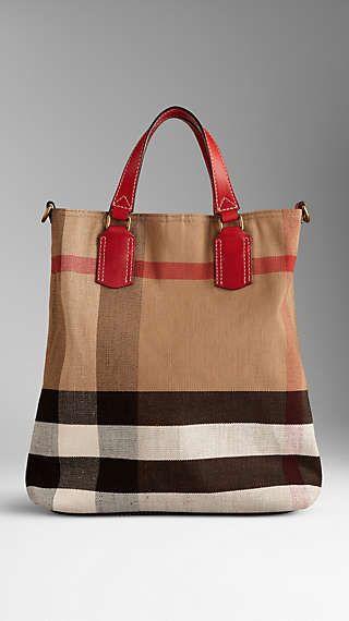 Medium Brit Check Tote Bag  1b1f9d088a0