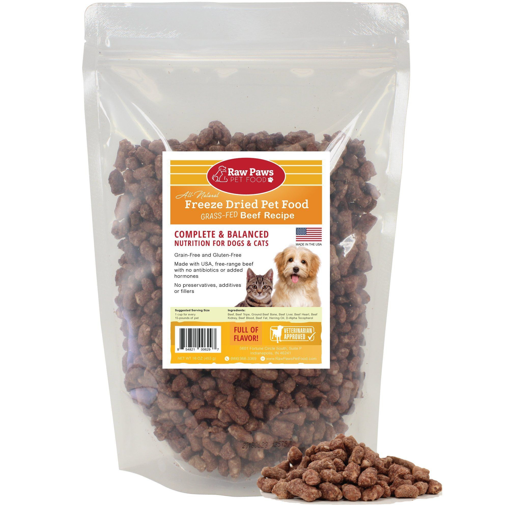 Raw Paws Pet Premium Raw Freeze Dried Pet Food for Dogs