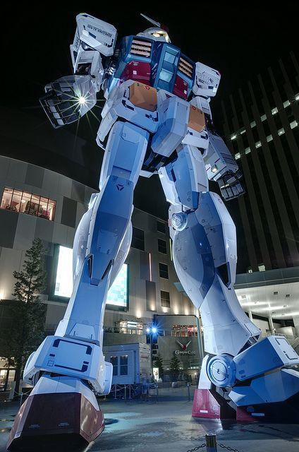 Life size Gundam close-up, Japan
