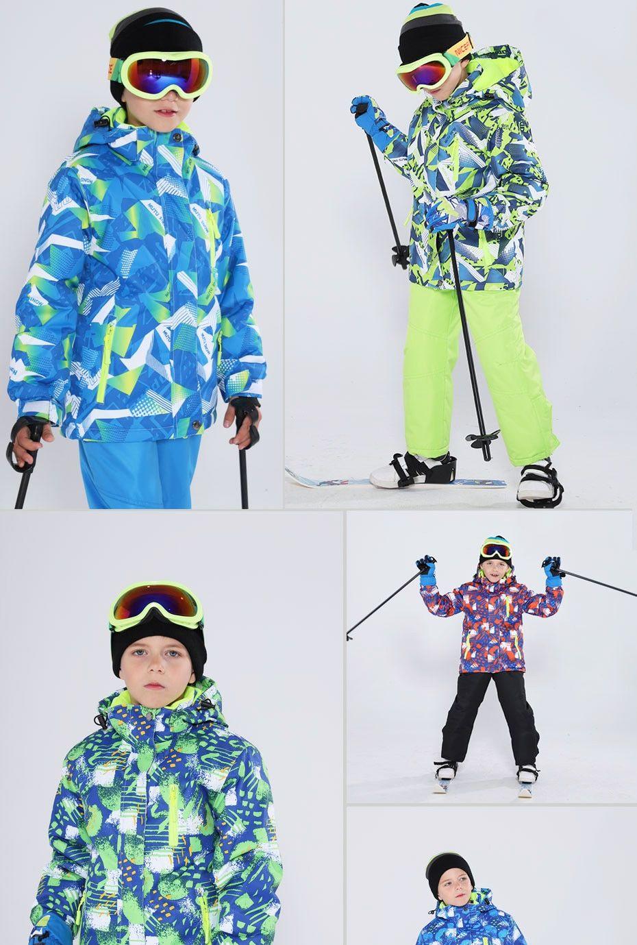 Kids Ski Suit Children Brands Waterproof Warm Girls And Boy Snow Jacke Kids Ski Suit Snowboarding Outfit Kids Skis