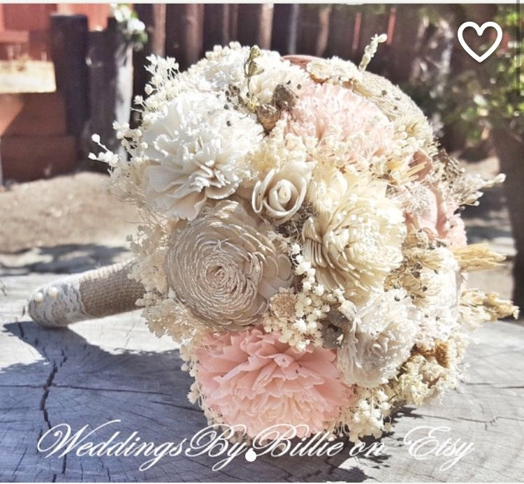 Blush and Champagne Sola flower bouquet | To A Love So Much Refined ...