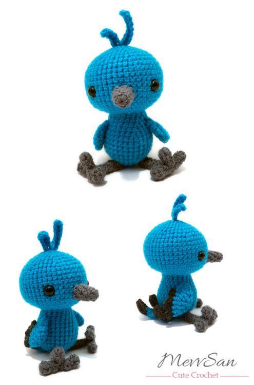 Amigurumi Woodland Critter Bluebird crochet pattern by MevvSan ...