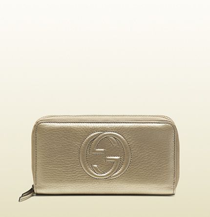 df7a2a64441a Gucci - soho metallic leather double zip-around wallet 306016AH90G9504