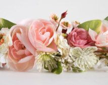 Floral Halo Made to match Dollcake or Well Dressed Wolf...Flower Girl…