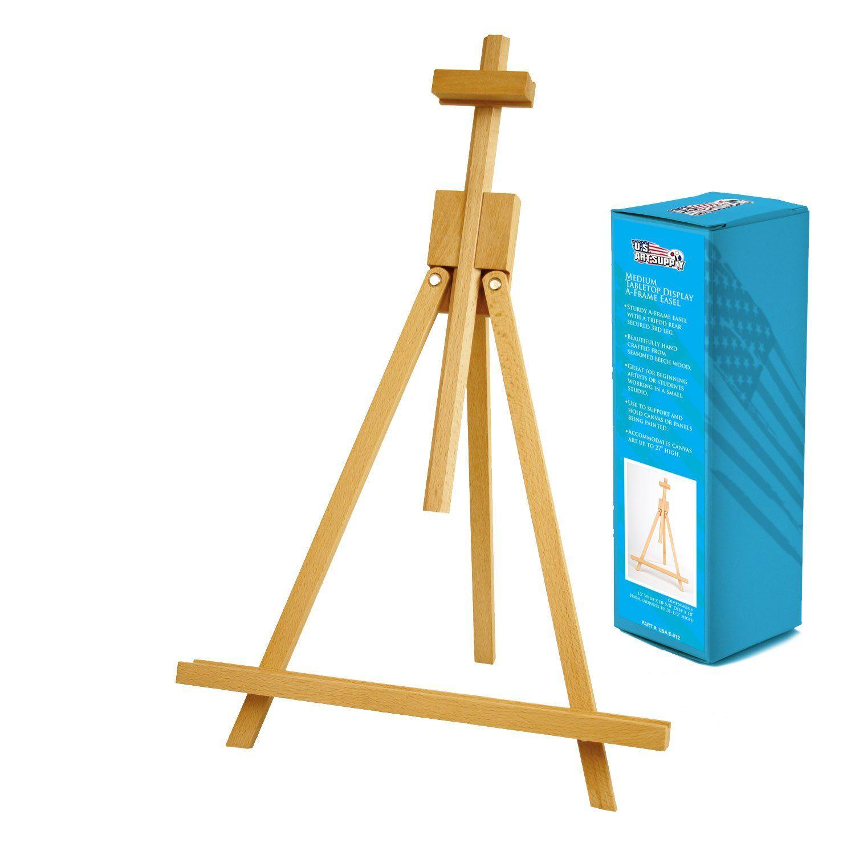 topanga medium wood tabletop display a frame artist easel esel rh in pinterest com