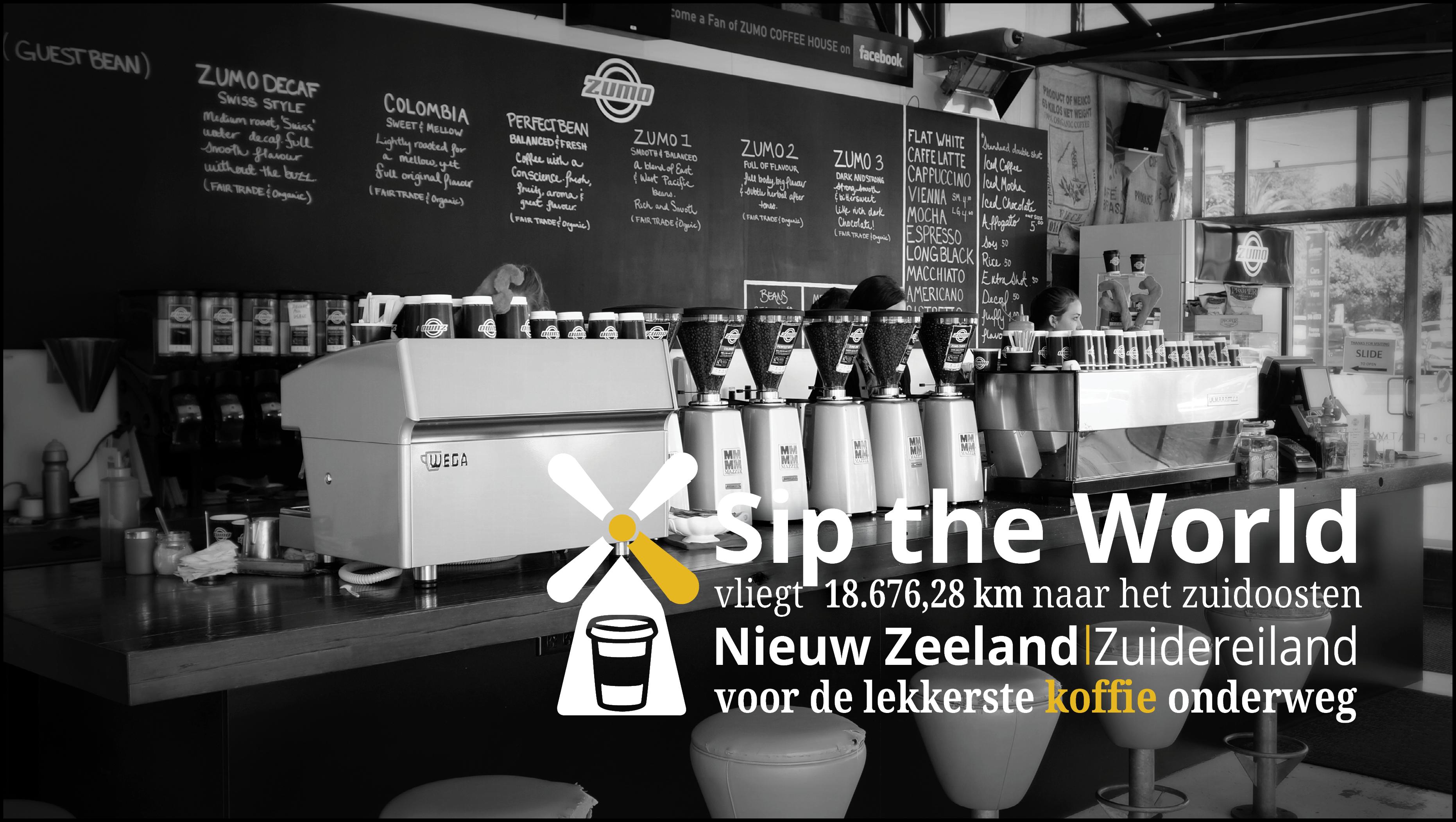 Nieuwe reisinspiratie te vinden op www.siptheworld.nl. Deze keer over de lekkerste koffie voor tijdens je rondrit op het Zuidereiland van Nieuw Zeeland!