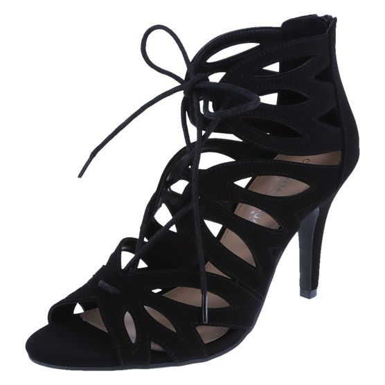 19b07069e20 Amplify your heel collection with this designer number from Christian  Siriano! The Mania heel features a faux suede upper with Ghillie lacing