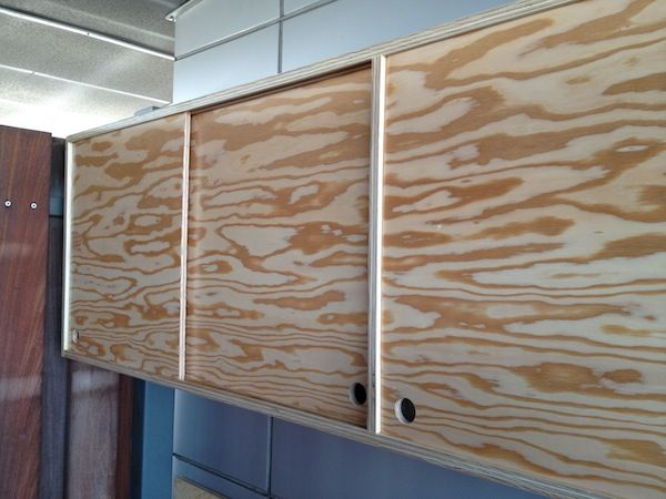 Sliding Door Plywood Cabinet By Roberto Gil Red Hook To Cook - Kitchen cabinets with sliding doors