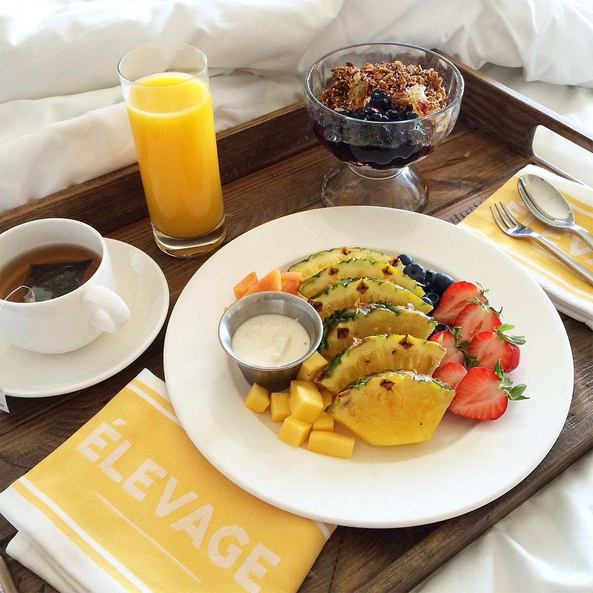 Breakfast In Bed At The Epicurean Hotel Tampa Florida