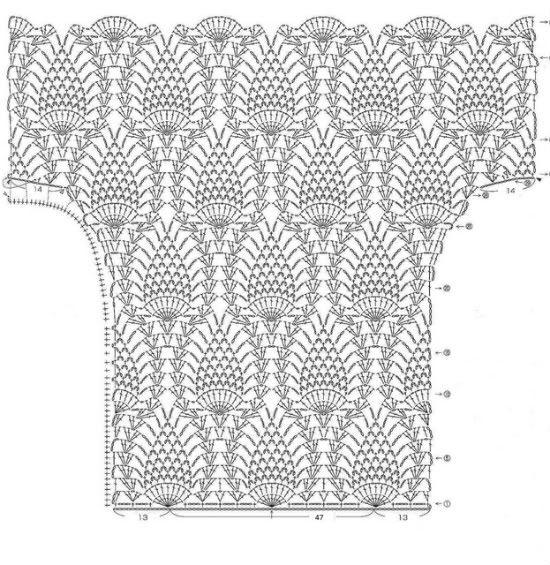 ❥❥ Crochê ❥❥ Jú | grafico | Pinterest | Patrones, Tejido y Blusas