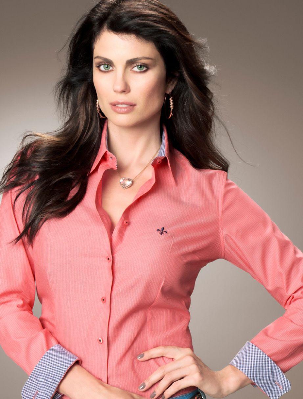 Camisas Femininas Dudalina 2013 Com as novas tendências de roupas para  todas as ocasiões 0fd01d02e5f74