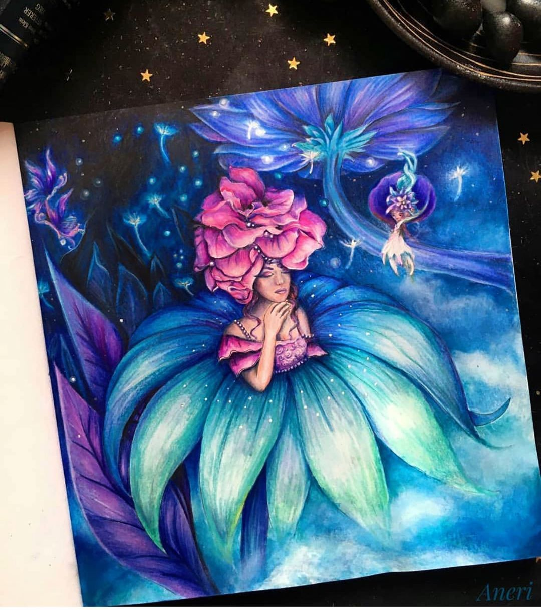 Gefallt 51 Mal 0 Kommentare Colorinodi Colorinodi Auf Instagram Happy Monday Fantastical By Black Aneri In 2020 Fantasy Lovers Coloring Books Fantasy