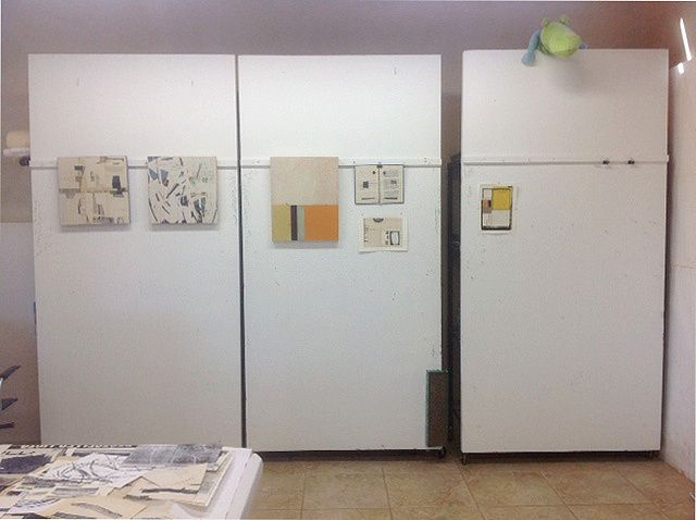 Using Foam Insulation Board From Home Depot Attached To Inexpensive Shelving Units To Create Movabl Small Space Apartment Ideas Movable Walls Moveable Wall