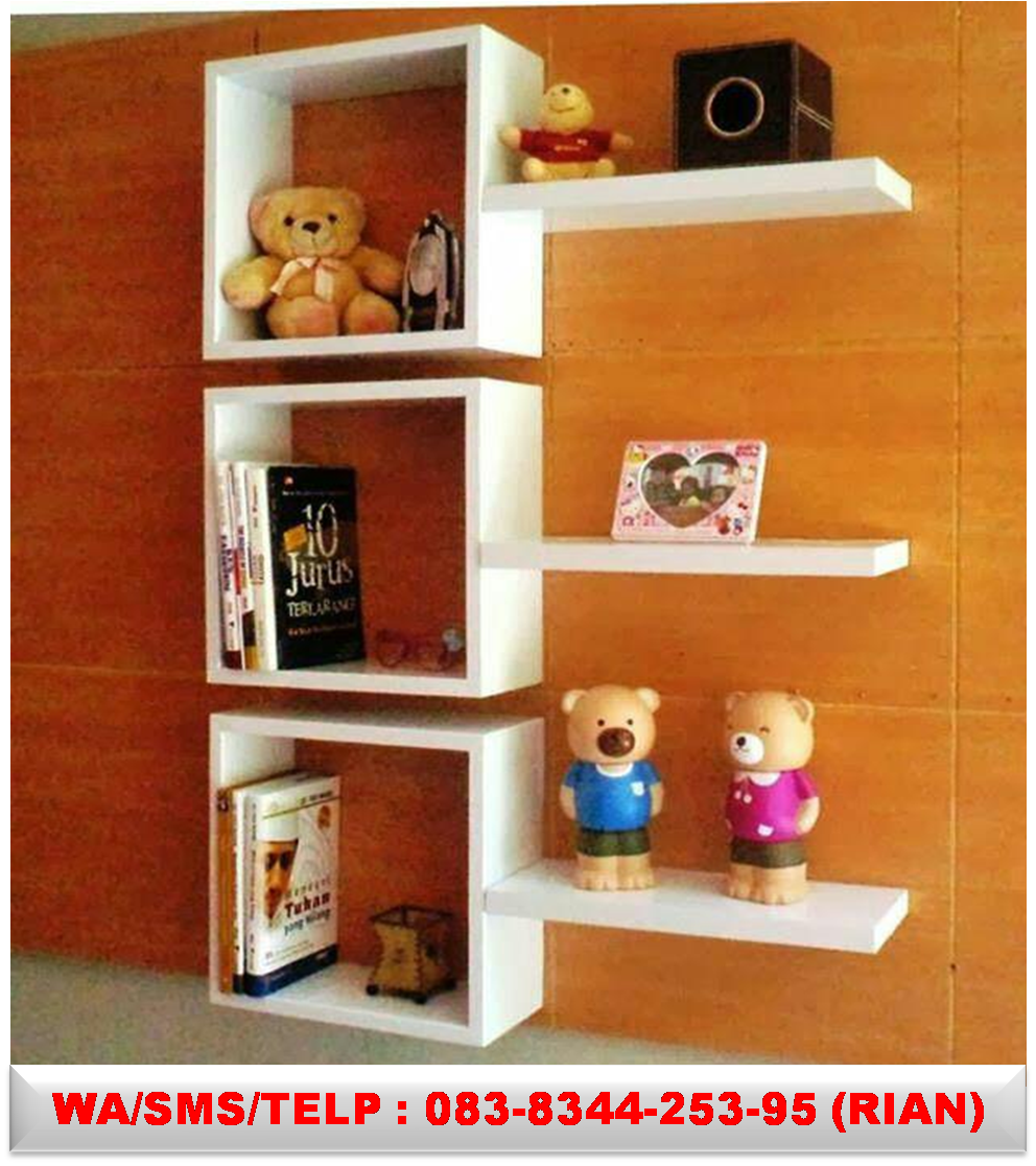 Pajangan Dinding Unik Rak Display Shelves Wall Tv Shelf Woodworking