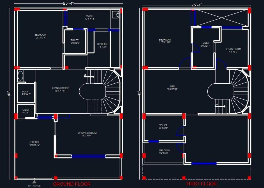 House Space Planning 25 X40 Floor Layout Plan Floor Layout 20x40 House Plans House Layout Plans