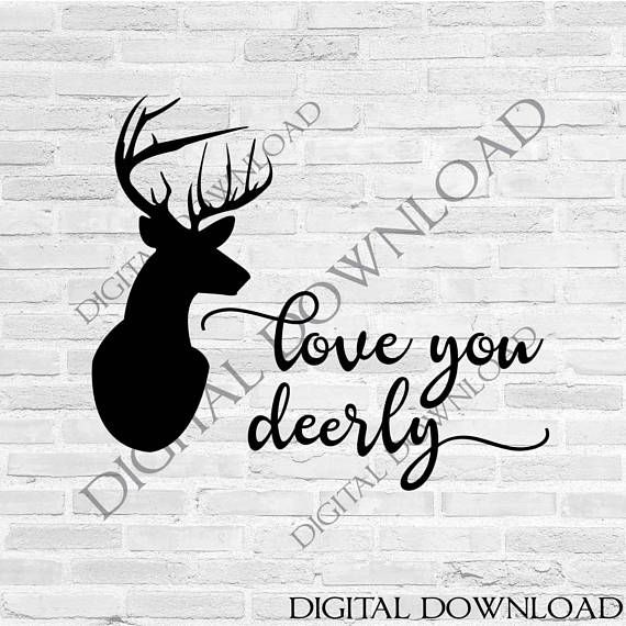 Download Love you deerly Vector Download - Gift for him, Vector ...