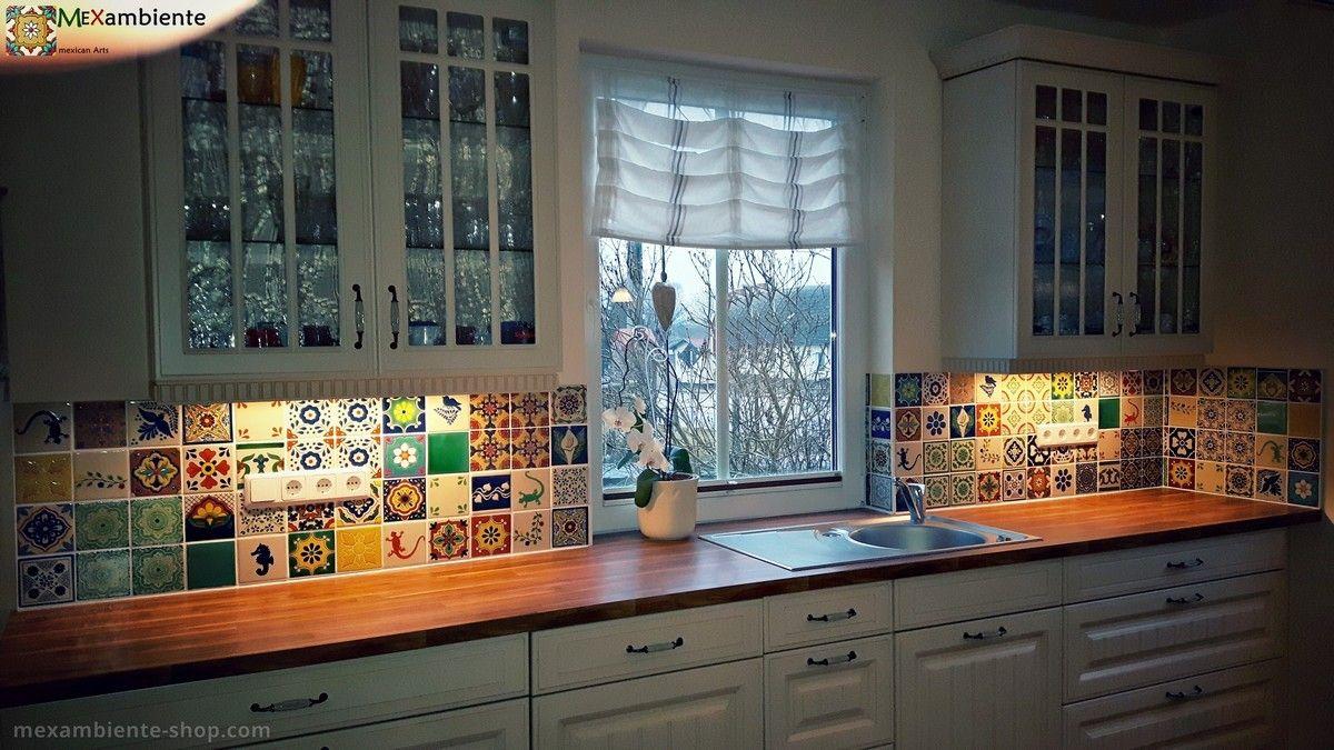 Bunte Fliesen für den einzigartigen Fliesenspiegel in der Küche ...