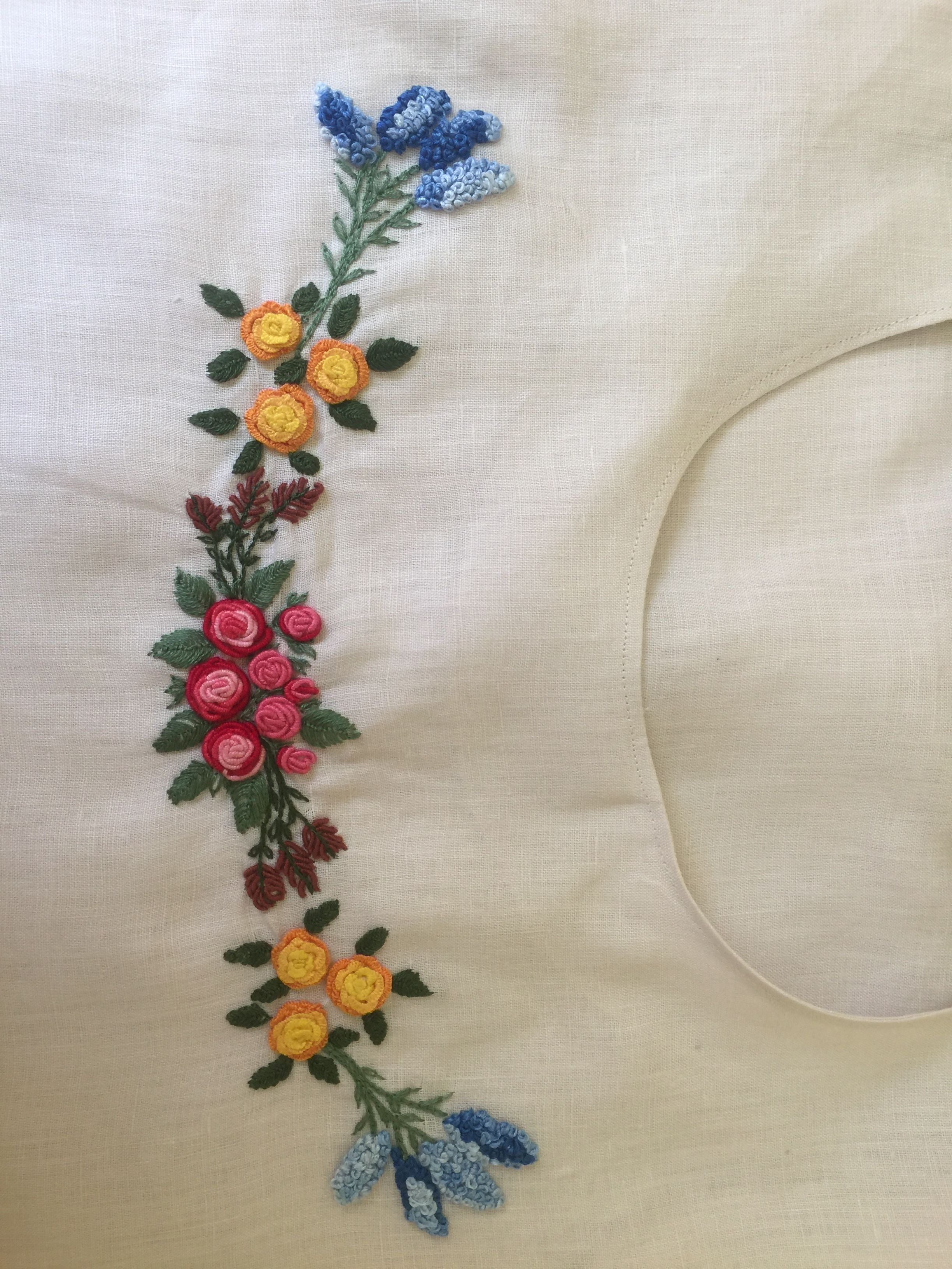 Embroidery on clothes or magic of cross sewing