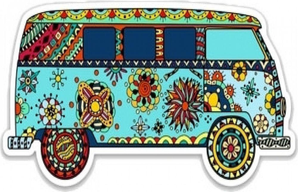 Photo of Hippie Van Color Sticker [Pack of 2 – 4″ x 2″