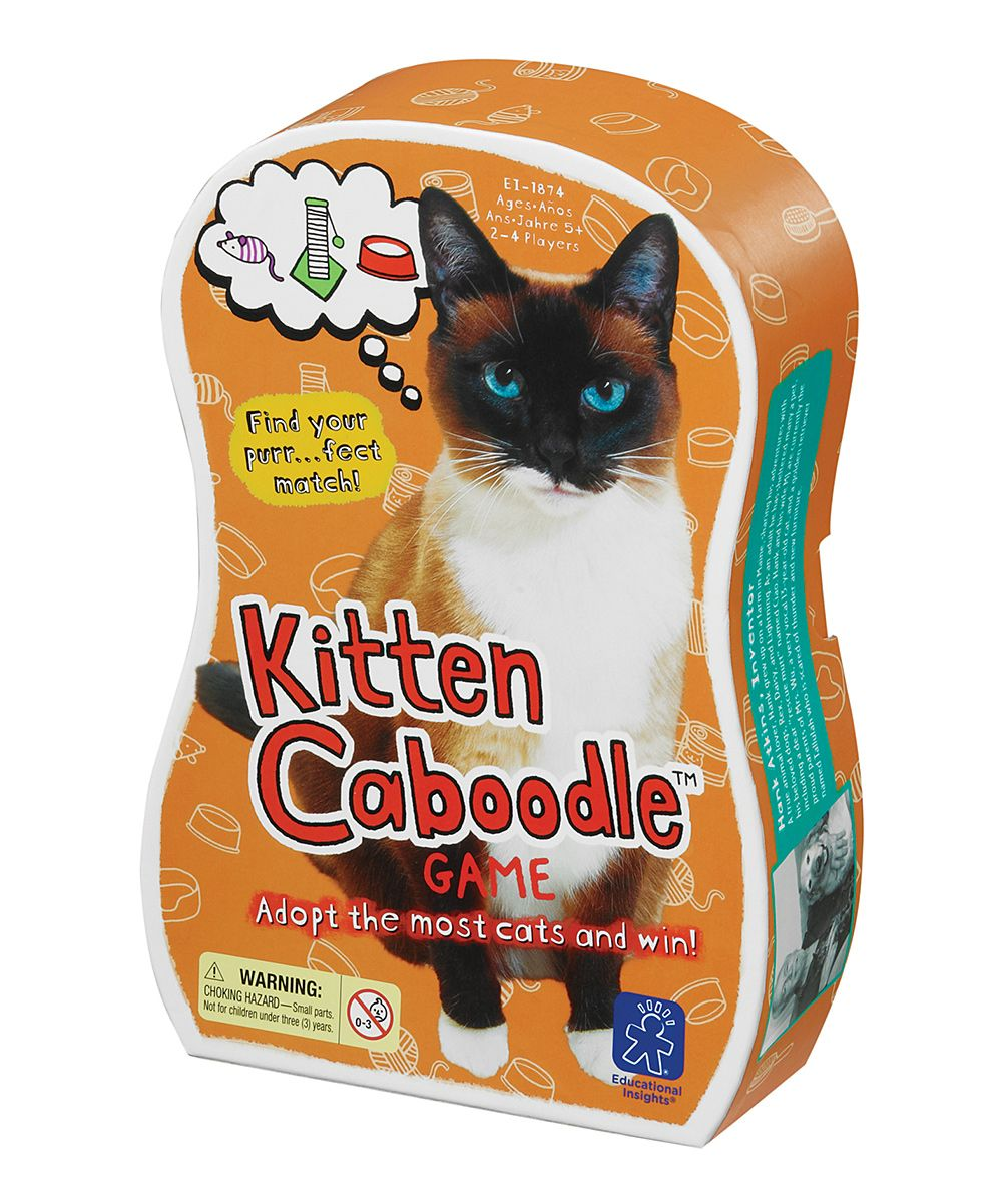 Kitten Caboodle Matching Game Zulily Educational Insights Matching Games Kitty Games