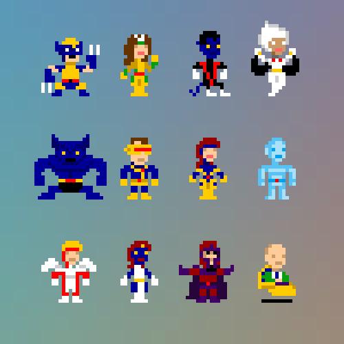 x-men pixel art