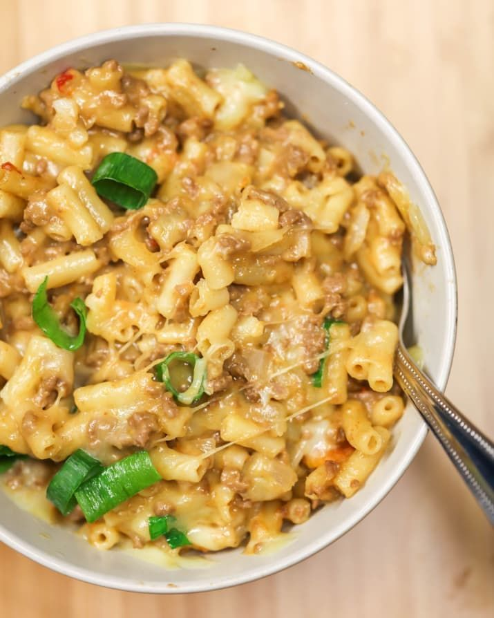One-Pan Taco Macaroni And Cheese #tacomacandcheese