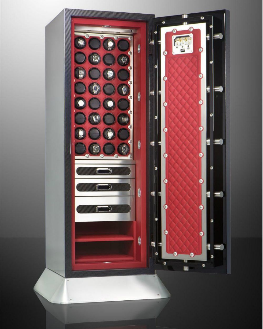 Brown Watch Safes Combine Form Function Security Ablogtowatch Watch Safes Luxury Safe Protrek