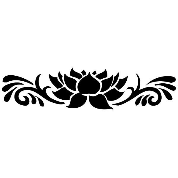 Pochoir fleur de lotus adh sif et repositionnable ki sign energie creative dessins - Fleur de lotus dessin ...