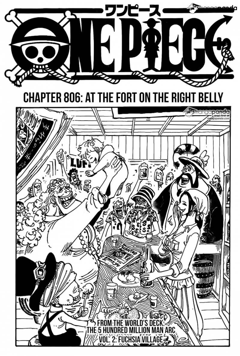 One Piece 806 - Read One Piece 806 Online - Page 1
