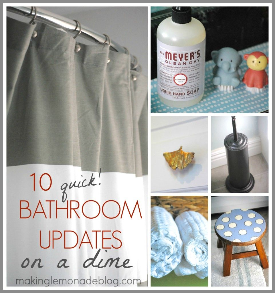 Simple Updates To Transform Your: 10 Quick Bathroom Updates On A Dime {Day 13}