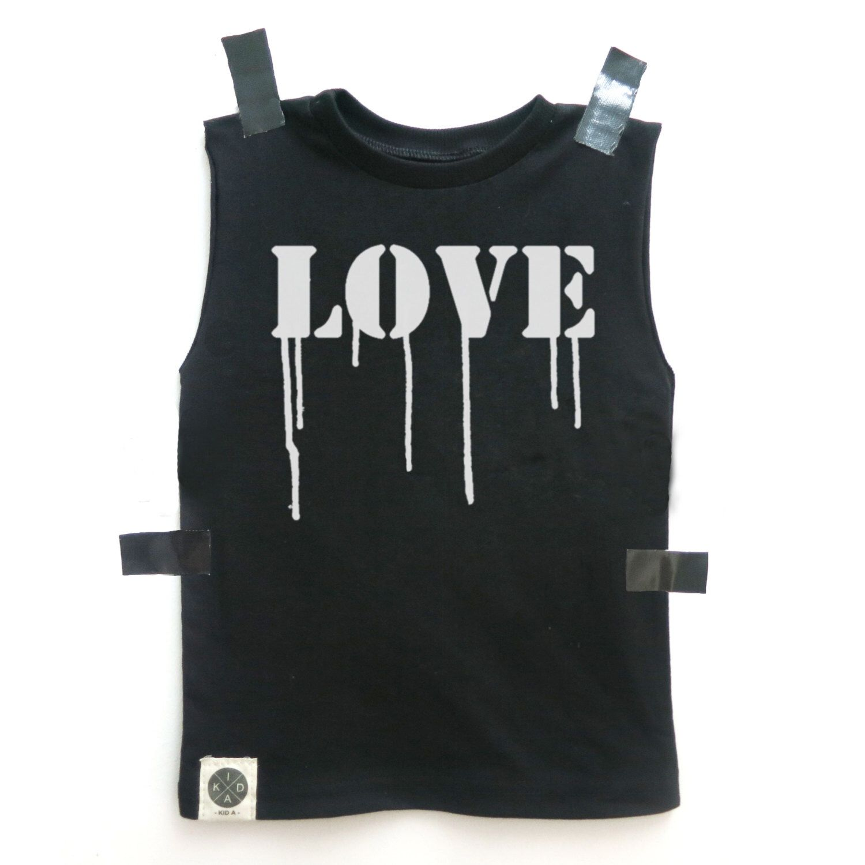 A personal favorite from my Etsy shop https://www.etsy.com/il-en/listing/288795777/sale-kids-sleeveless-t-shirt-black