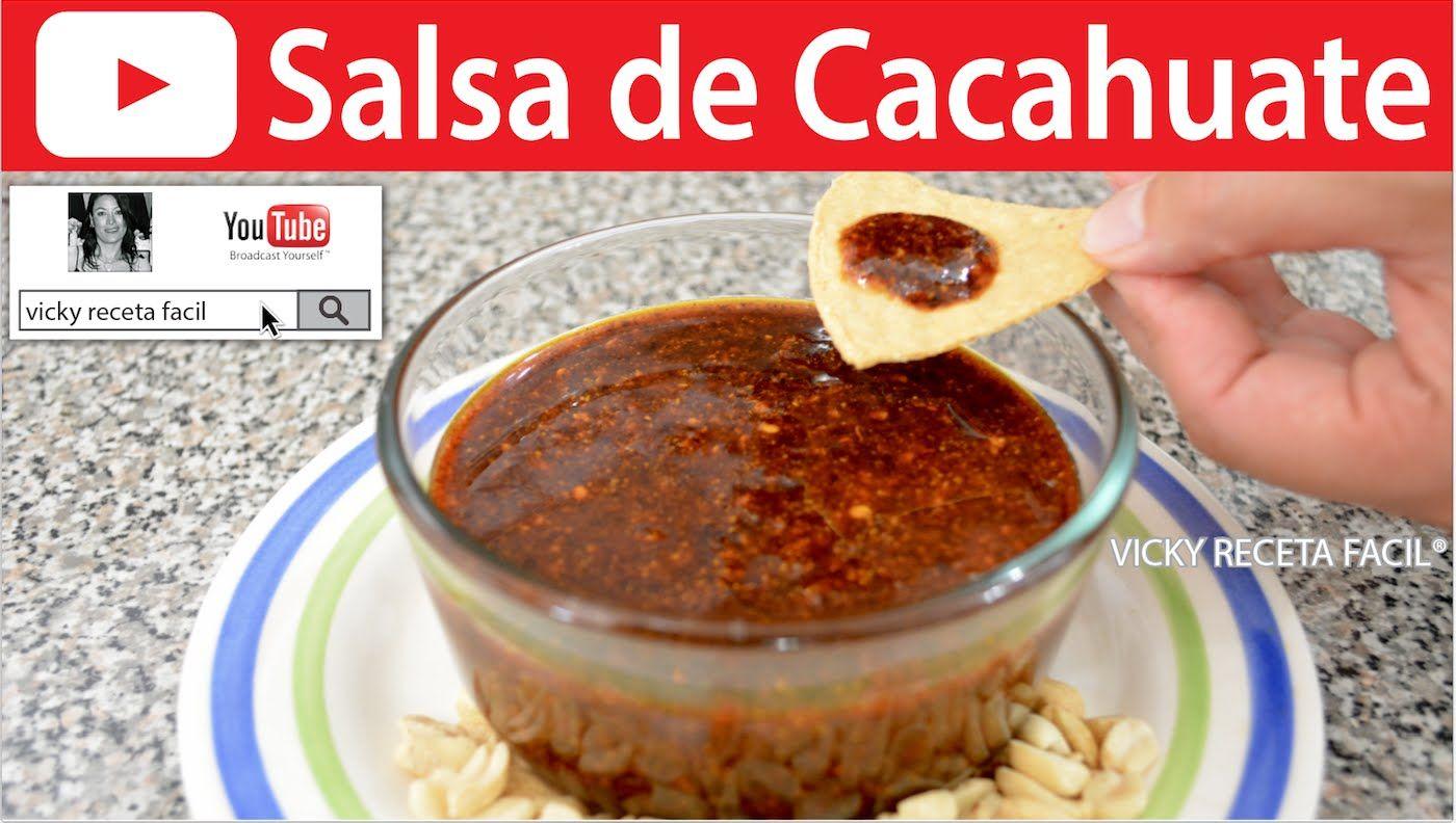 Salsa de cacahuate vicky receta facil youtube ideas food forumfinder Choice Image